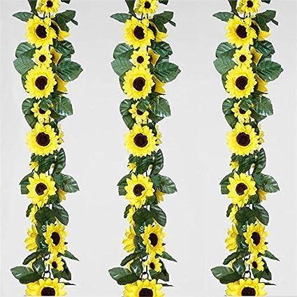 Amazon balsacircle 24 ft yellow silk flower garlands 4 balsacircle 24 ft yellow silk flower garlands 4 garlands wedding party centerpieces arrangements bouquets mightylinksfo