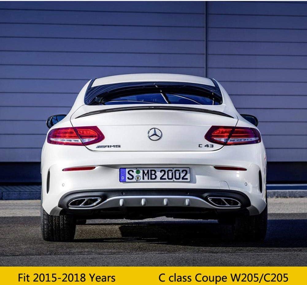 QTCD Aileron en Fibre De Carbone Performance Tronc Spoiler Wing C63 Style pour Mercedes Benz C180 C250 W205 Coup/é 2 Portes 2015-2018 C205