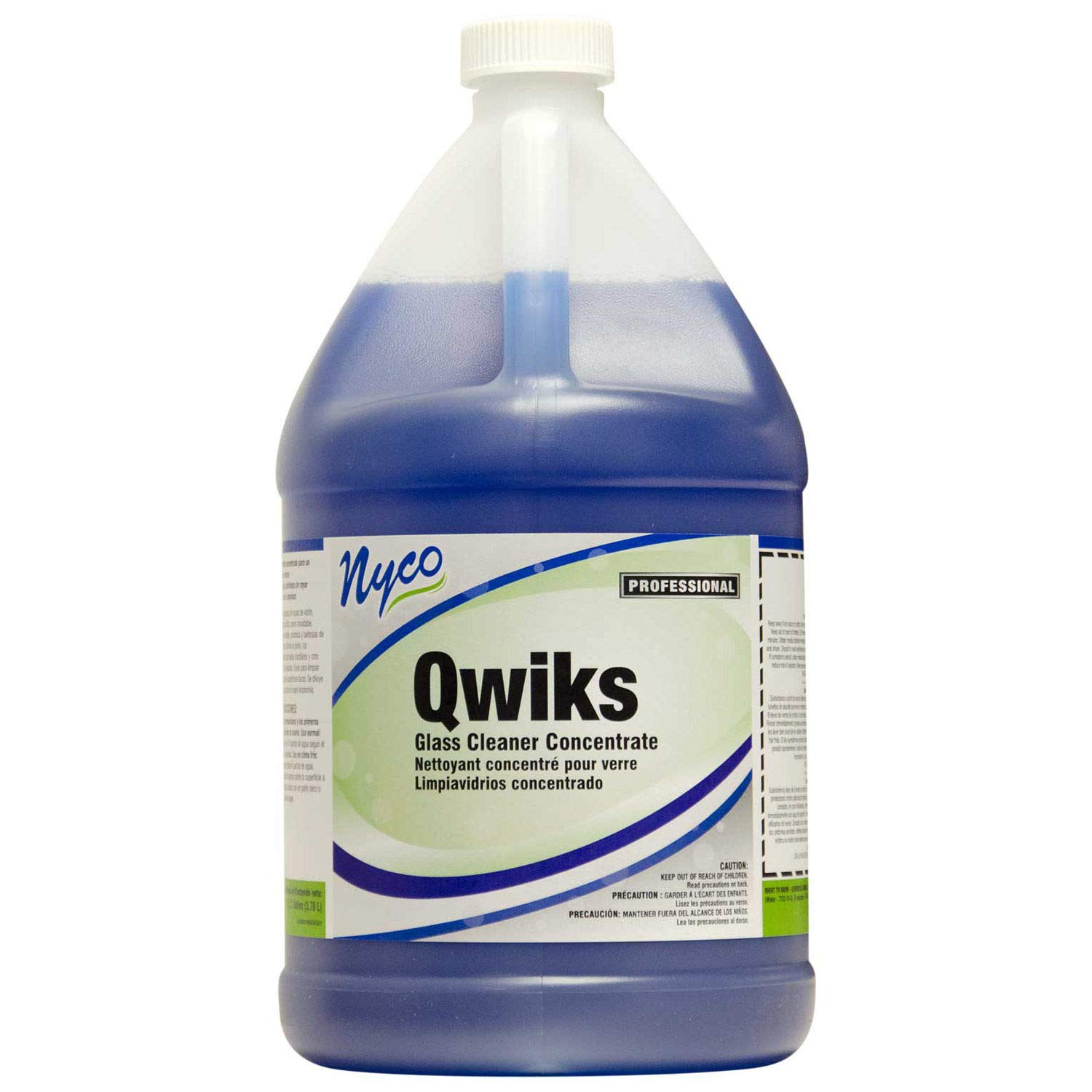 Nyco Products NL900-G4 Qwiks Concentrated Glass Cleaner Concentrate, 1-Gallon Bottle (Case of 4)