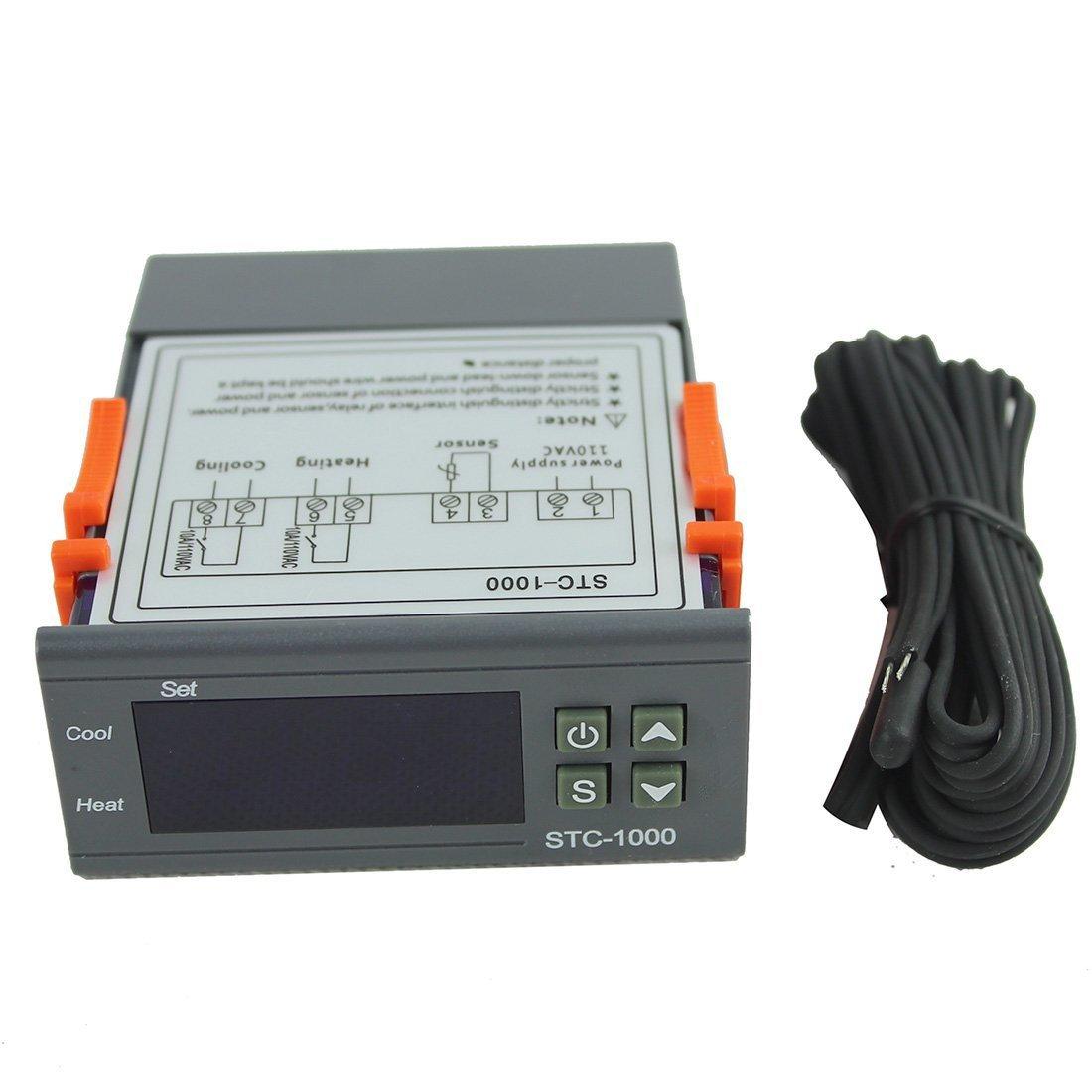110V All-Purpose Temperature Controller STC-1000 With Sensor