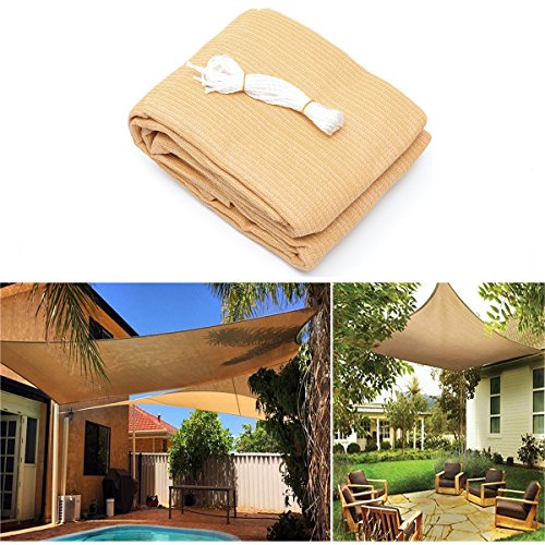 ShopSquare64 3x3M/4M 280gsm HDPE UV Sun Shade Sail Cloth Canopy Outdoor Patio Square Rectangle Awning Shelter