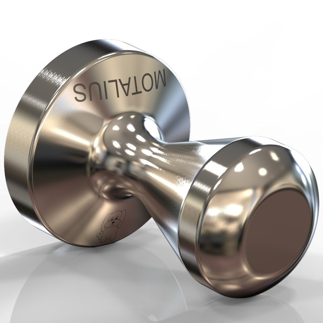 Motalius 58mm Espresso Tamper - Solid Unibody Design - 100% Stainless Steel - 58 mm Flat Base - Ground Coffee Tamper by Motalius (Image #1)