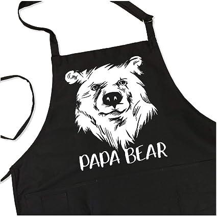 3d58ba2b00 Papa Bear - BBQ Grill Apron - Funny Apron For Dad or Grandpa - 1 Size