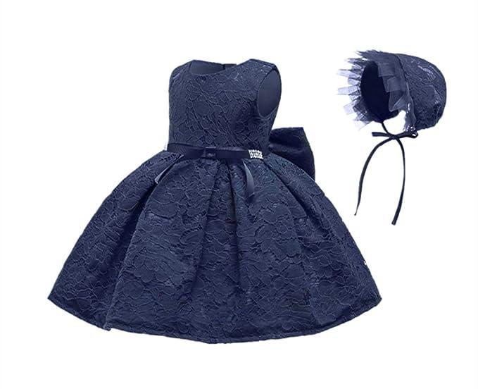 4ae07e98a923 Amazon.com  HainGexon Newborn Baby Girls Princess Lace Christening ...