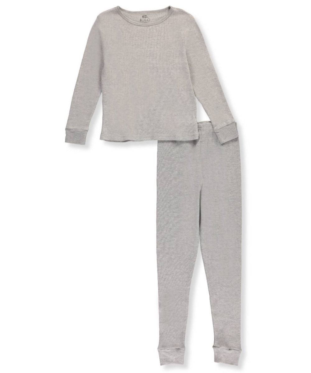 Ice2O Big Girls' 2-Piece Thermal Long Underwear Set 10-12