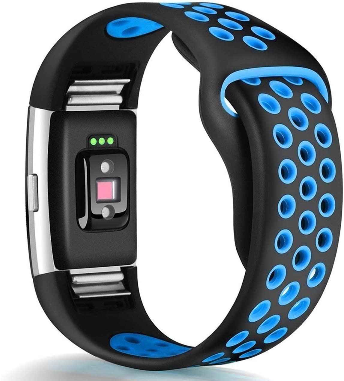 GeekSpark Bands Compatible for Fitbit Charge 2 Replacement Accessory Breathable Wristbands with Air Holes Compatible for Fitbit Charge 2 HR