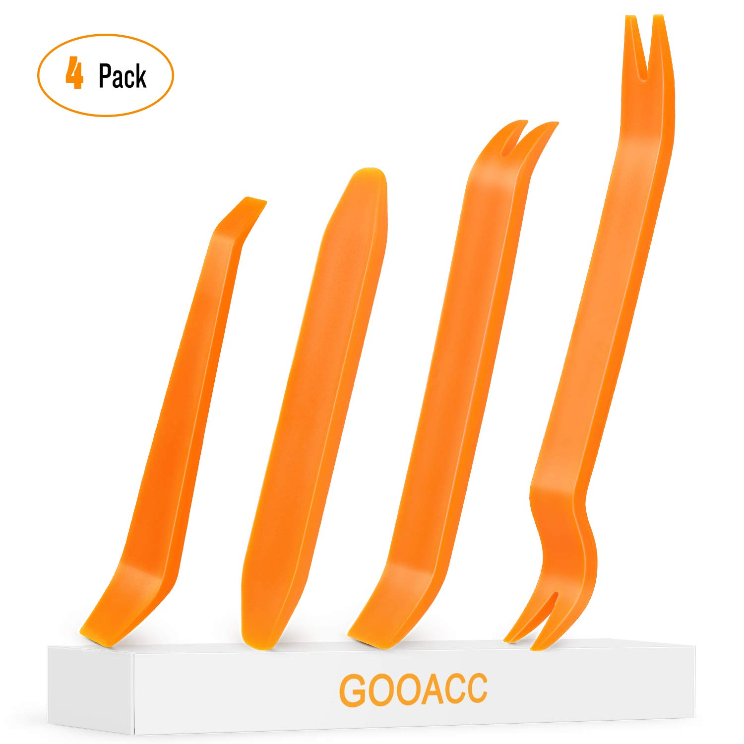 GOOACC Car Door Clip Panel Audio Video Dashboard Dismantle Kits Installer Pry Tool-4PCS