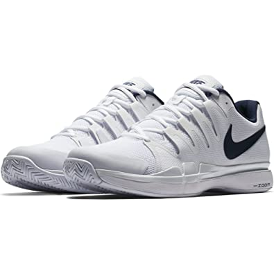 on sale dc229 73c75 Nike Chaussures de Tennis Homme Zoom Vapor 9.5 Tour 631458 104  blanc marine-45