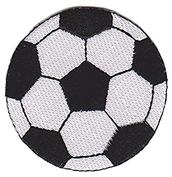 Balón de Fútbol Clásico Footbal Patch Negro Blanco Parche para ropa Parches  Bordados Parche Termoadhesivo Iron ac51915f48f0c