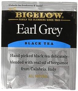 Bigelow Earl Grey Tea Bags 28-Count Box (Pack of 1) Black Tea Bags with Oil of Bergamot All Natural Gluten Free Rich in Antioxidants