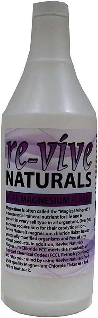 Re-vive Naturals Magnesium Chloride Flakes 1.5 Lbs Food Grade Pure