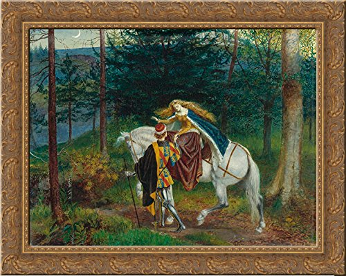 La belle Dame Sans Merci 24x20 Gold Ornate Wood Framed Canvas Art by Walter - Sans Merci Framed Belle Dame