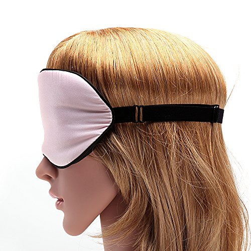USCAMEL Tranquility 100% Silk Sleep Mask - Very Lightweight and Comfortable - Perfect for Travel and Sleeping - Pink by USCAMEL (Image #5)