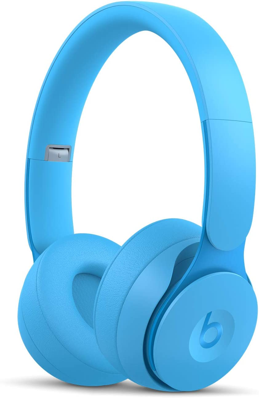Beats Solo Pro WirelessNoise Cancelling On-Ear Headphones - Apple H1 Headphone Chip, Class 1Bluetooth, Active Noise Cancelling, Transparency, 22 Hours of Listening Time- Light Blue
