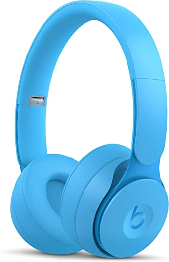 Amazon Com Beats Solo Pro Wireless Noise Cancelling On Ear Headphones Apple H1 Headphone Chip Class 1 Bluetooth Active Noise Cancelling Transparency 22 Hours Of Listening Time Light Blue