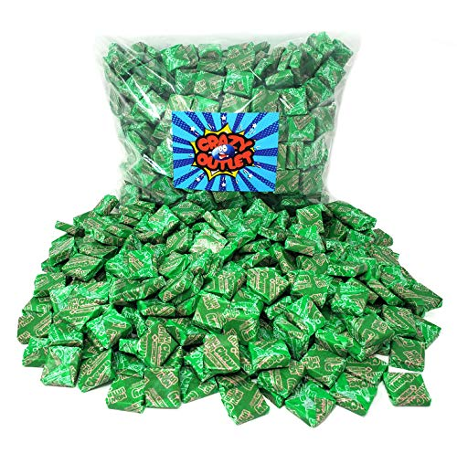 Green Candy Buffet (CrazyOutlet Pack - Now and Later Original Chewy Candy Watermelon Flavor Taffy Candy, Bulk Pack, 2 lbs - Halloween)