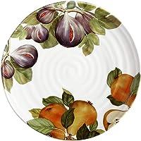 Ceramica Cuore Frutti 39cm Round Serving/Platter Servingware Plate Fig Pear