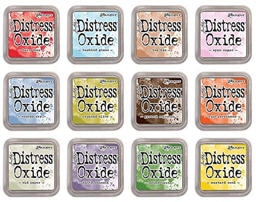Ranger Tim Holtz Bundle of 12 Distress Oxide Ink Pads - Summer 2018 Colors (Tim Ink Distress)