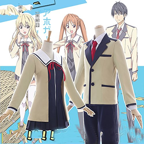 Yoshiko Hanabatake AHO-GIRL Nuoqi Main Characters Anime Cosplay Costume Full Set