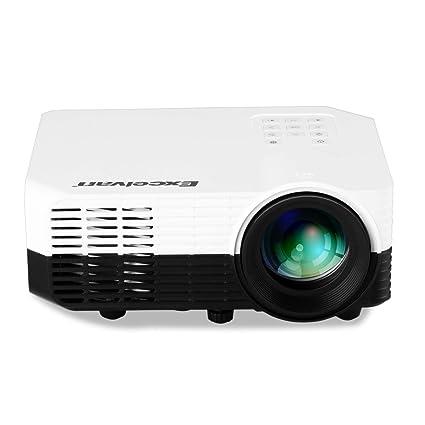 Excelvan - 2018 LCD proyector 1200 lúmenes Soporta 1080P con ...