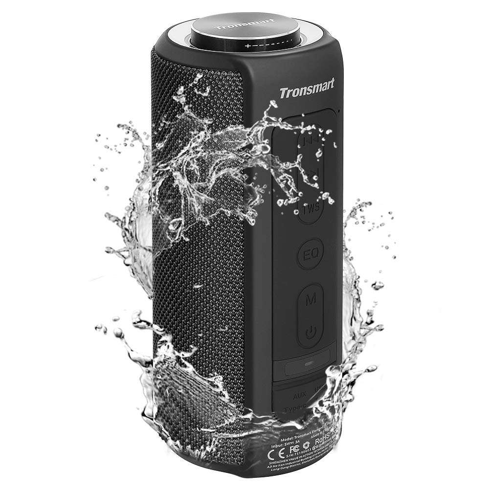 Waterproof Bluetooth Speakers, Tronsmart T6 Plus 40W Outdoor Speakers Bluetooth 5.0, IPX6 Portable Wireless Speakers with Tri-Bass Effects, 15-Hour Playtime with 6600mAh Power Bank, TWS, Built-in Mic by Tronsmart