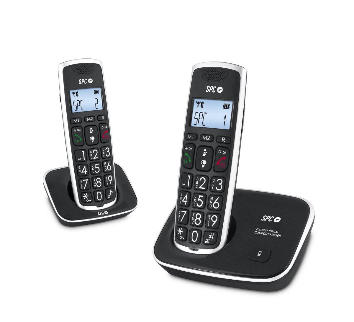 teléfono duo teclas grandes compatible audífono negro