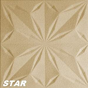 15m2MyWall 3d Wandpaneele–50x 50cm, Star