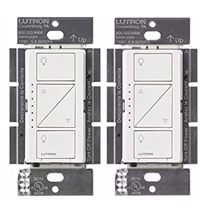Lutron PD-10NXD-WH Caseta Pro In Wall Dimmer 250W LED (2 Pack) - - Amazon .com
