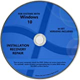 Windows 10 Pro & Home Install Reinstall Upgrade Restore Repair Recovery 64 bit x64 All in One Disc WNYPC Utility DVD