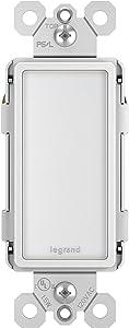 Legrand - Pass & Seymour NTLFULLWCC6 Full LED Night Adjustable Light Levels, White