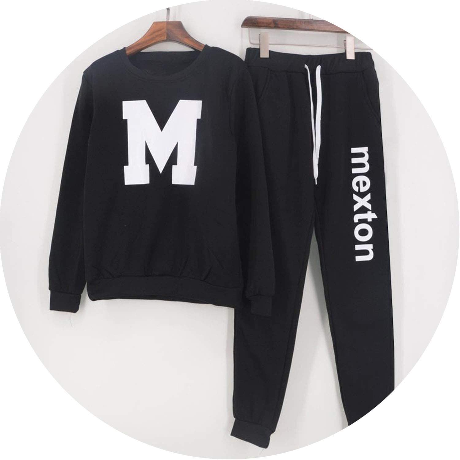 Long Pants Women Casual Sportswear Pullovers 2 Piece Set Womens Tracksuit Autumn Winter Sweatshirt