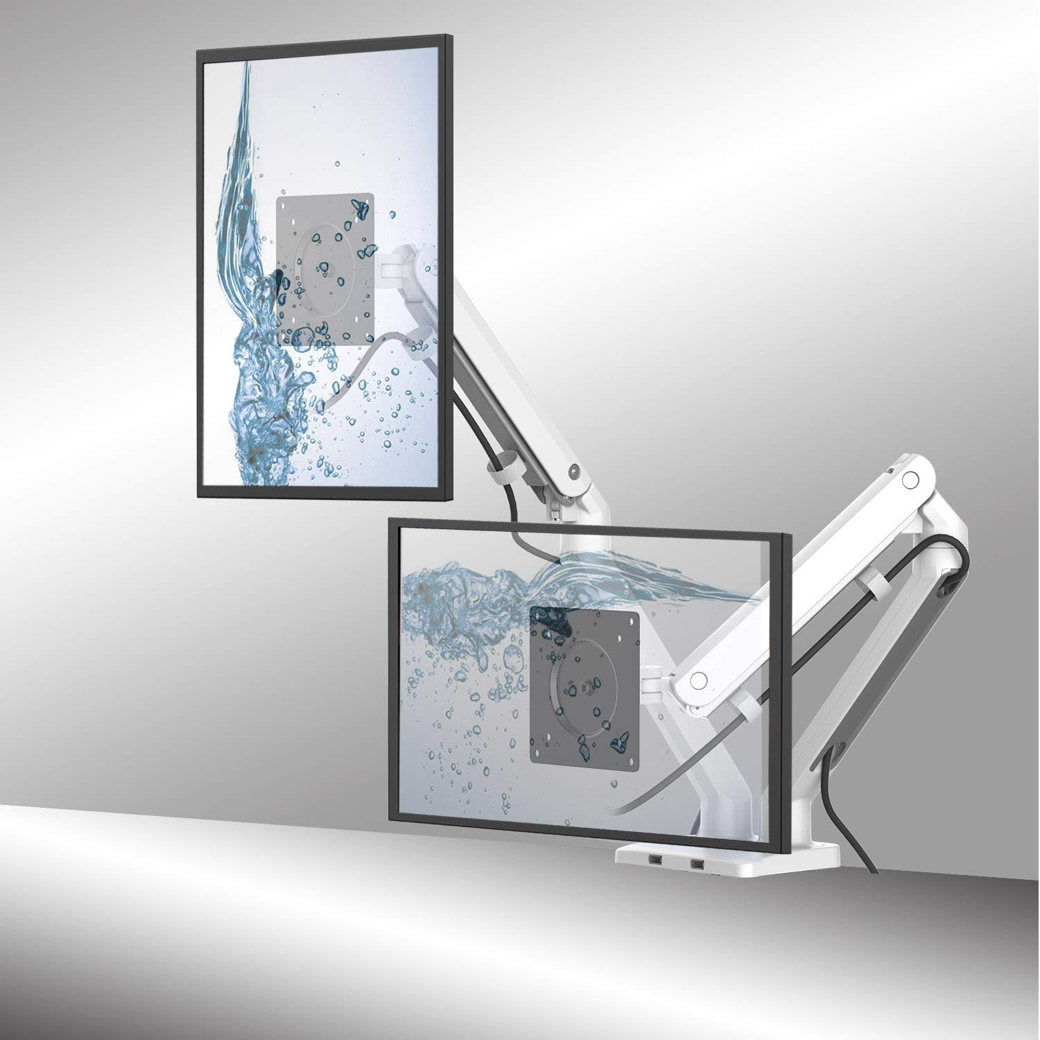 Dual LED LCD Monitor Desk Mount Stand