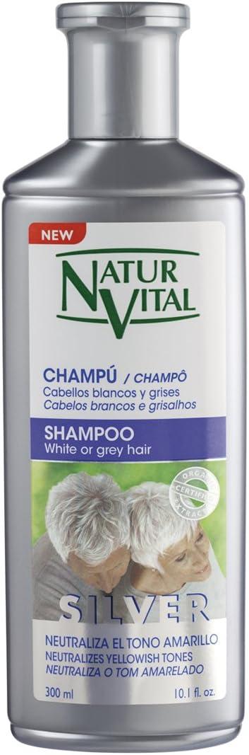 Naturaleza y Vida Champú Cabello Blanco y Gris - 300 ml