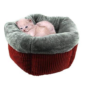 Fuitna Saco de Dormir para Mascotas, otoño e Invierno, cálido, diseño de Ondas