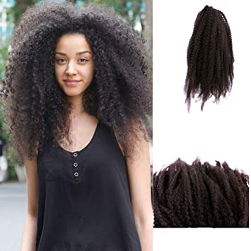 Amazoncom Afro Kinky Twist Hair Crochet Braids Marley Braid Hair