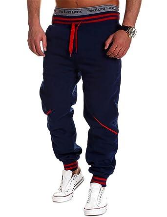 Teamyy Pantalones Chandal Hombre Casual Cintura Elástico Deporte ...