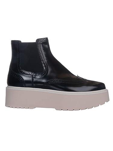 Hogan Damen HXW3550AO2098AB999 Schwarz Leder Stiefeletten  Amazon.de ... 53b682c025