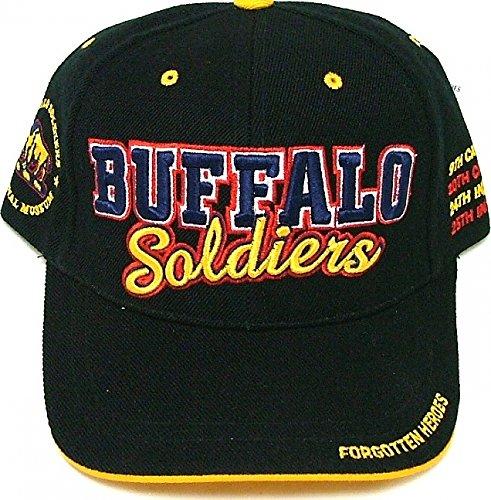 Big Boy Buffalo Soldiers Commemorative S3 Mens Cap [Black - Adjustable]