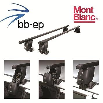 Mont Blanc Premium Acero Baca/Last portaequipajes para Seat Toledo 5 puertas Hatchback con normalem