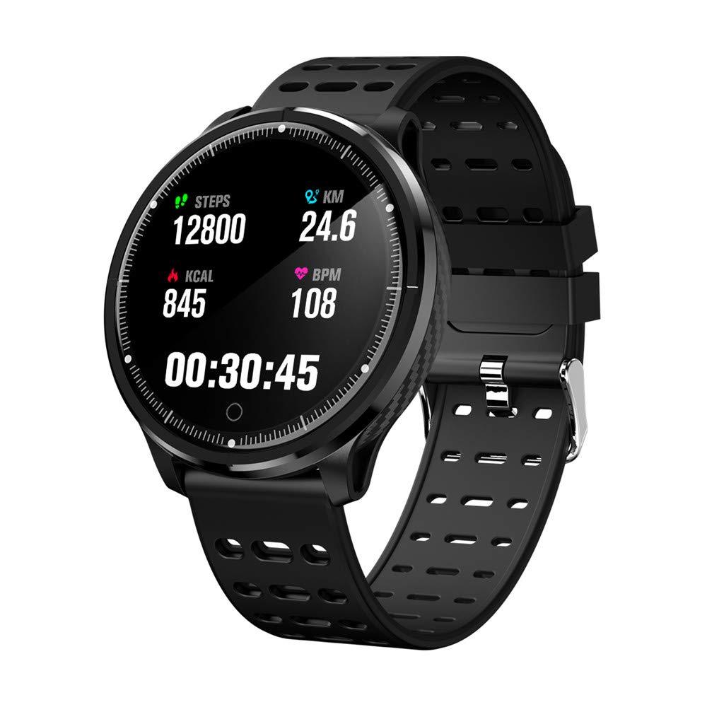 TechCode Fitness Tracker Waterproof, Smart Bracelet Color LCD Screen Smart Band Heart Rate Blood Pressure Monitor Smart Bracelet Wristband Fitness Tracker Watch for Women Men (Black)