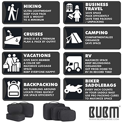 Travel Electronics Organizer Bag - BUBM Portable 3 pcs/Set Gadget Carrying Storage Bag,Cable Organizer Cases for USB Cables, Hard Drive,Memory Card,Power Bank,External Flash,2 Year Warranty by BUBM (Image #6)