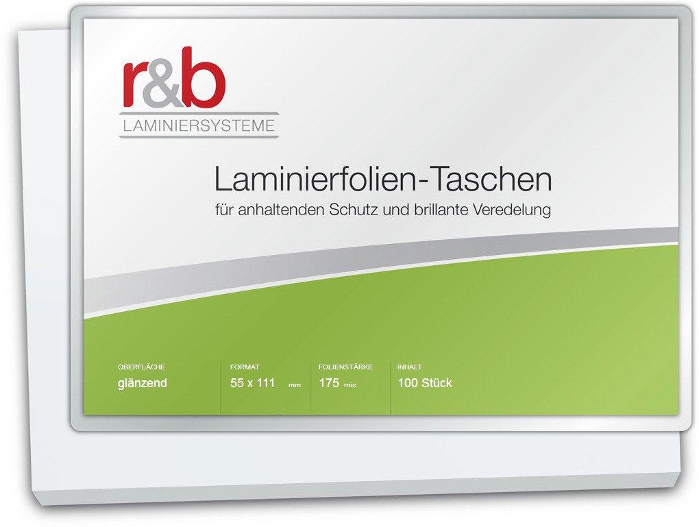 Laminierfolien 55 x 111 mm glänzend für Thekenpreisschilder 2 x 175 mic