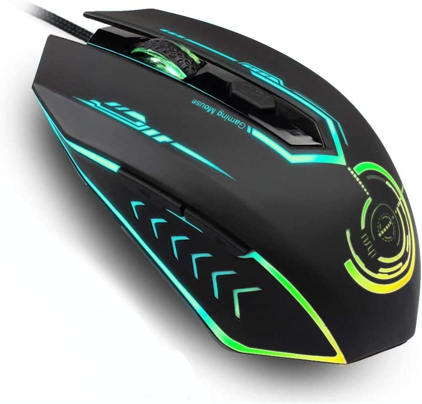 Gaming Mouse Wired Uhuru Gaming Mouse With 6 Programmable Buttons 4 Adjustable Dpi Up To 4800 7 Rgb Backlit Modes Ergonomic Mmo Rechargeable Gaming Mouse For Pc Laptop Computers Accessories Amazon Com