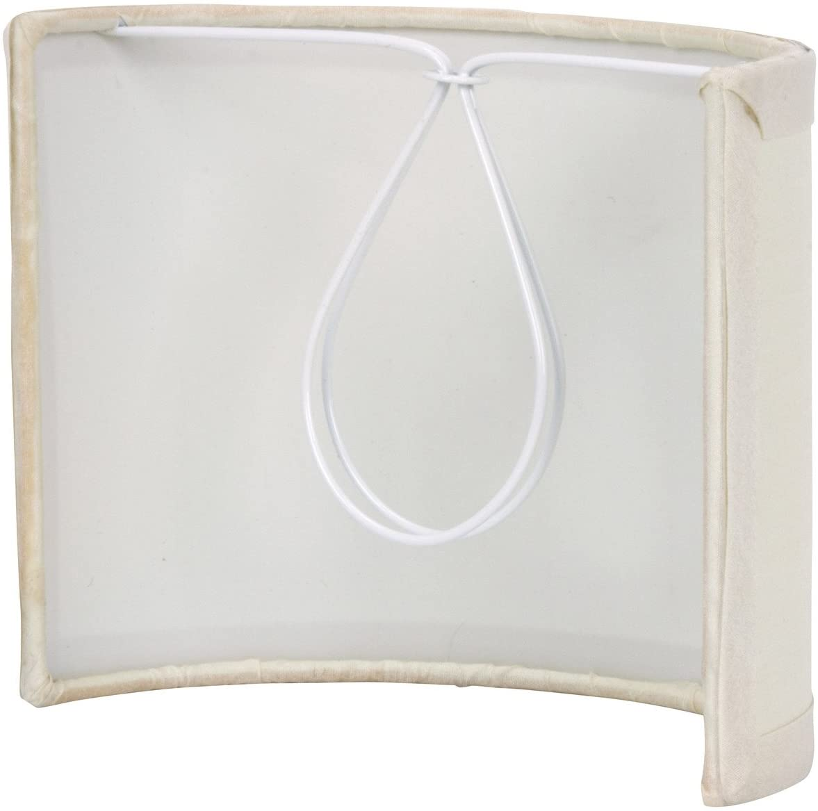 Upgradelights 5 Inch Tall Wall Sconce Clip On Shield Lamp Shade Chandelier Half Shade Light Fixture Replacement Shades