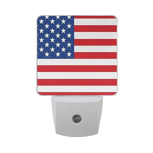Amazon.com: naanle Juego de 2 bandera americana patriótica ...