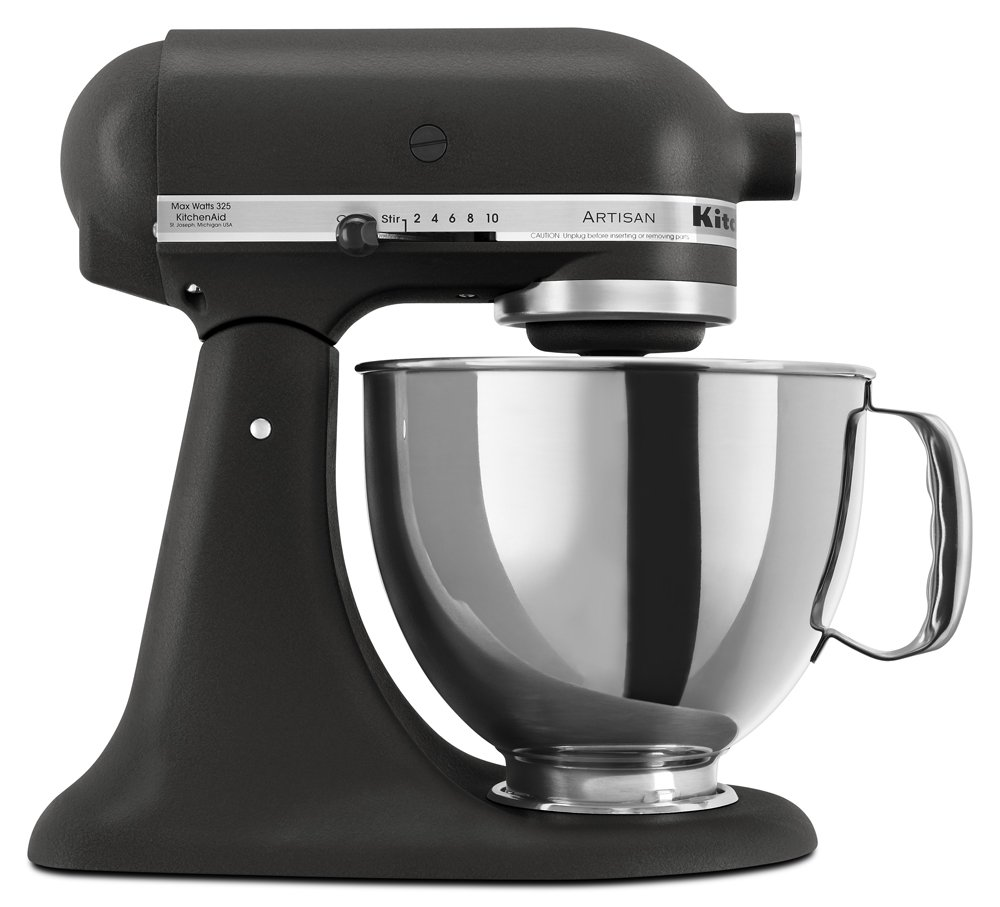 KitchenAid KSM150PSBK Artisan Series 5-Qt. Stand Mixer with Pouring Shield - Imperial Black
