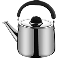 M-MAX Stainless Steel Tea Kettle Stovetop Whistling Teakettle Teapot with Ergonomic Handle -2.5QT/3QT/4QT/6QT (2.5L)