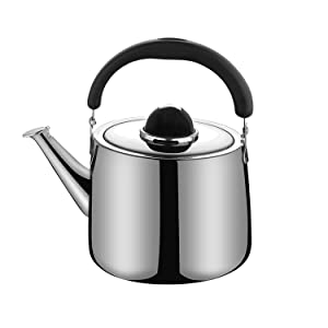 M-MAX Stainless Steel Tea Kettle Stovetop Whistling Teakettle Teapot with Ergonomic Handle -2.5QT/4QT/6QT (2.5 L)