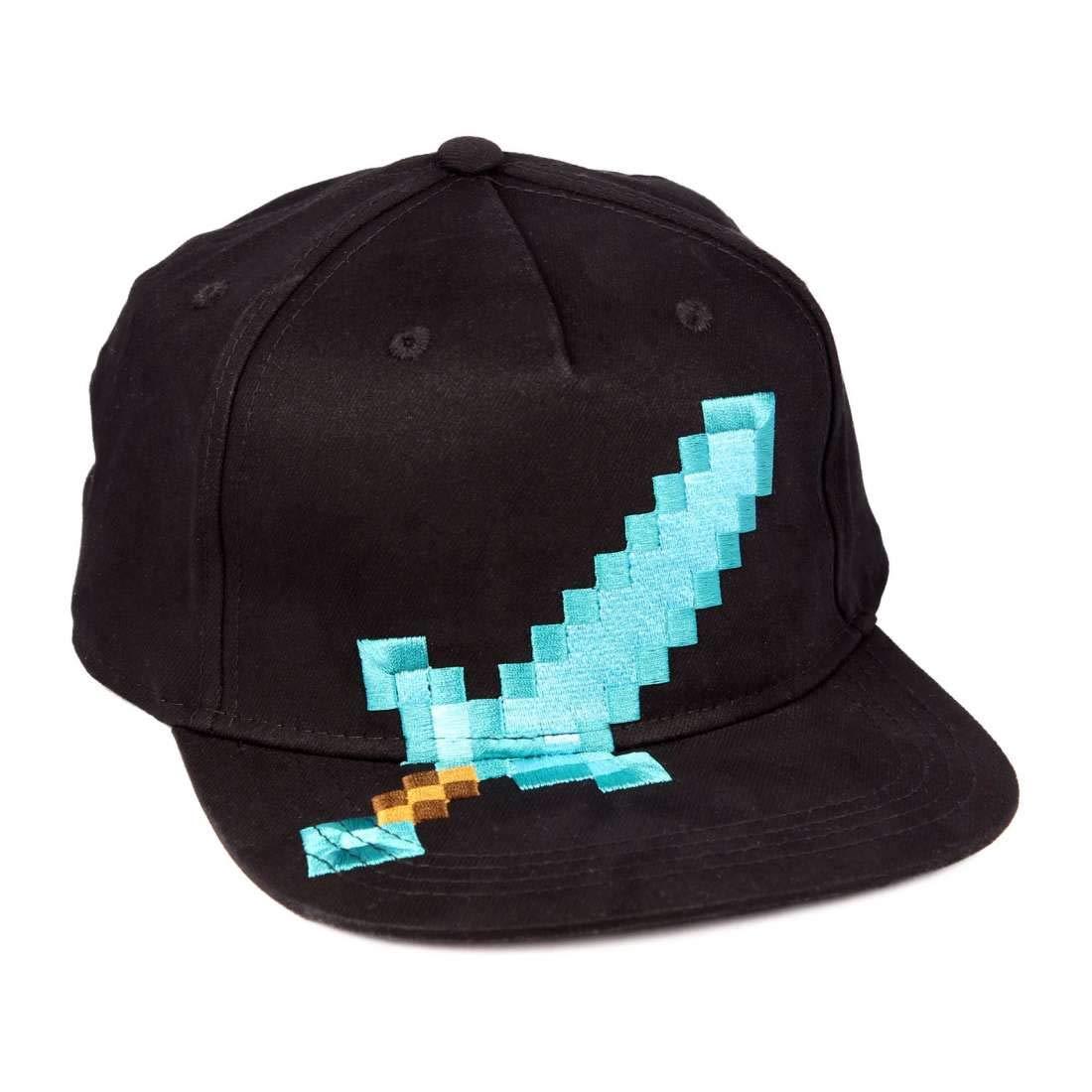 berretto da baseball Minecraft diamante Spada Logo cotone nero Cotton Division 4054