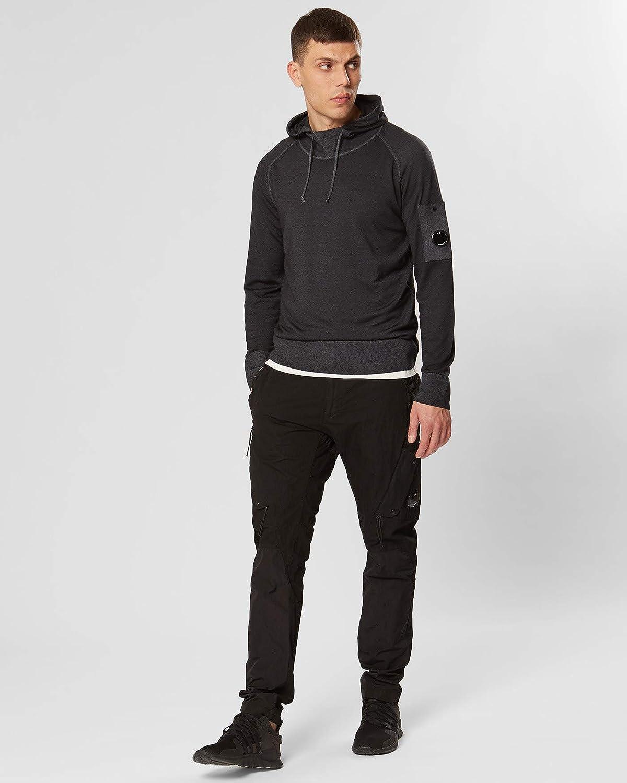 C.P.Company - Casual Kapuzenpullover für Männer, warm und komfortabel 999 - Black